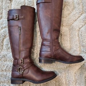 Guess Leather Riding Boots